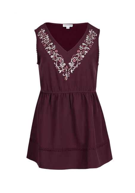 Ladies' Embroidered Empire Tank