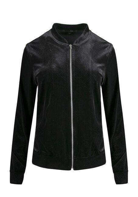 Ladies' Velvet Bomber Jacket