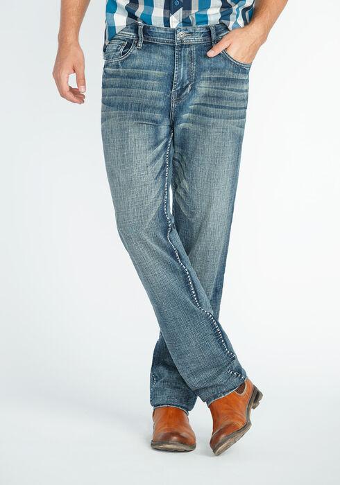 Men's Slim Straight Jeans, MEDIUM VINTAGE WASH, hi-res
