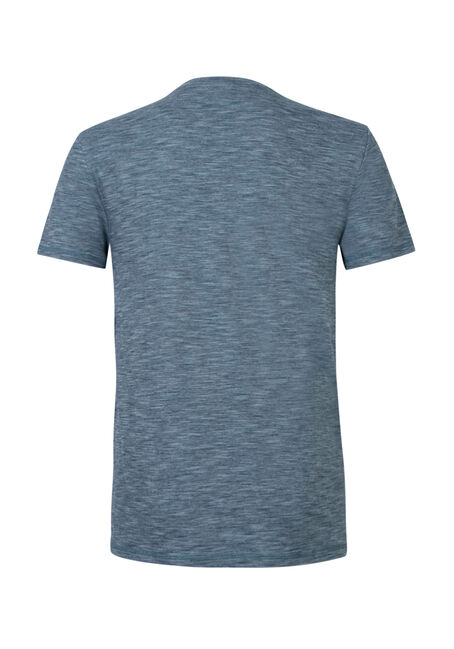 Men's Textured Crew Neck Tee, BLUE, hi-res