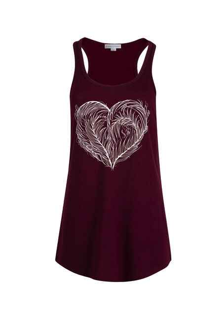 Ladies' Feathered Heart Racerback Tank
