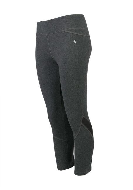 Ladies' Mesh Insert Legging, CHARCOAL, hi-res