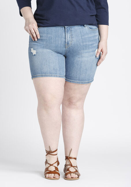 Ladies' Plus Size Mid Length Short