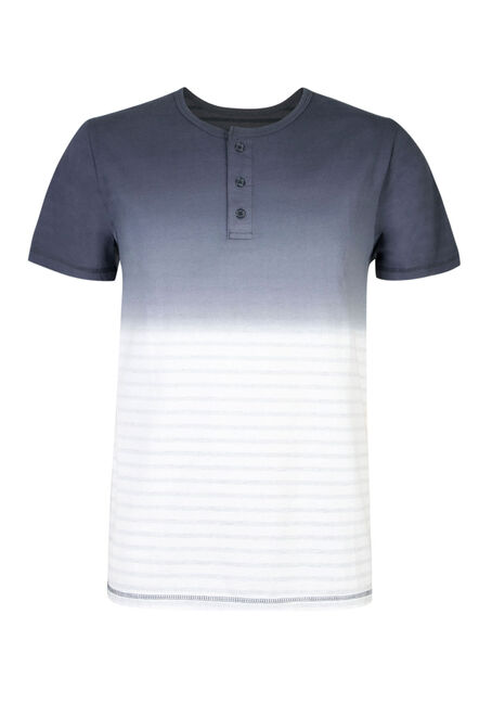 Men's Ombre Stripe Henley, NAVY, hi-res