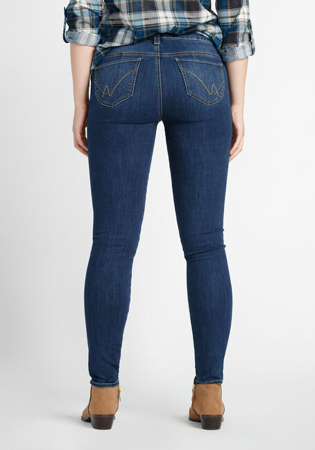 Ladies' Skinny Jeans, MEDIUM VINTAGE WASH, hi-res