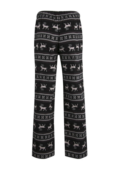Men's Reindeer Flannel Lounge Pant, BLACK, hi-res
