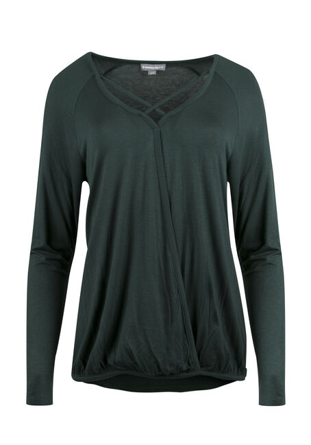 Ladies' Wrap Front Bubble Top
