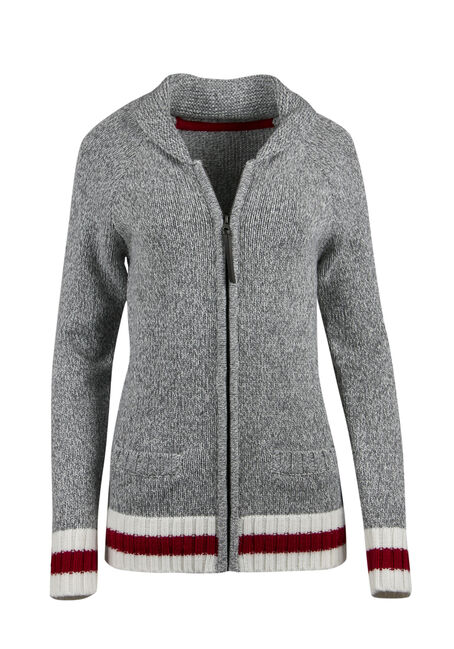 Ladies' Zip Front Cabin Cardigan