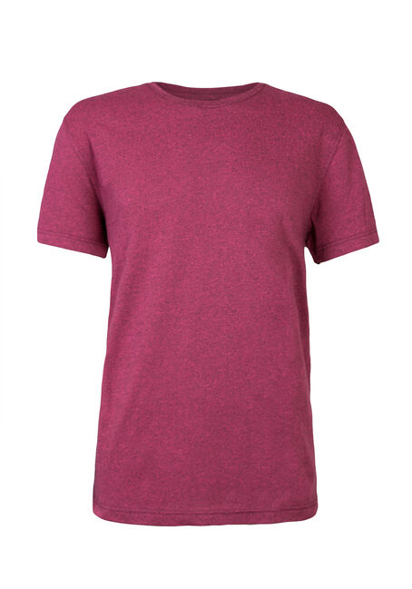 Men's Crew Neck Flecked Tee, PINK, hi-res
