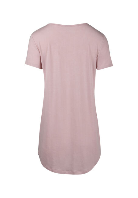 Ladies' Cage Neck Tunic Tee, ROSWATER, hi-res