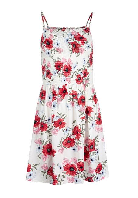 Ladies' Floral Smocked Dress