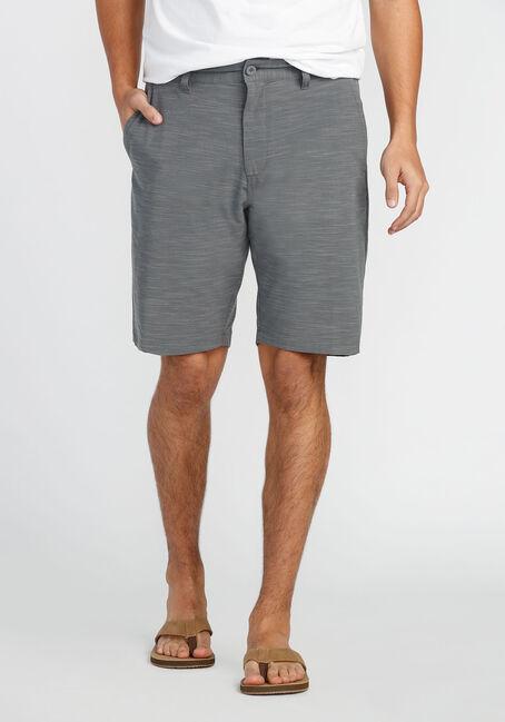 Men's Flat Front Hybrid Short, LIGHT GREY, hi-res