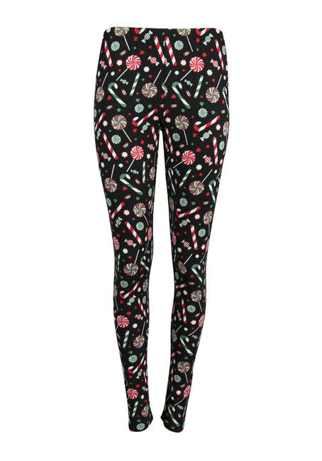 Ladies' Candy Cane Holiday Legging