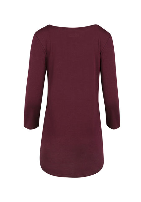 Ladies' Tunic Tee, WINE, hi-res
