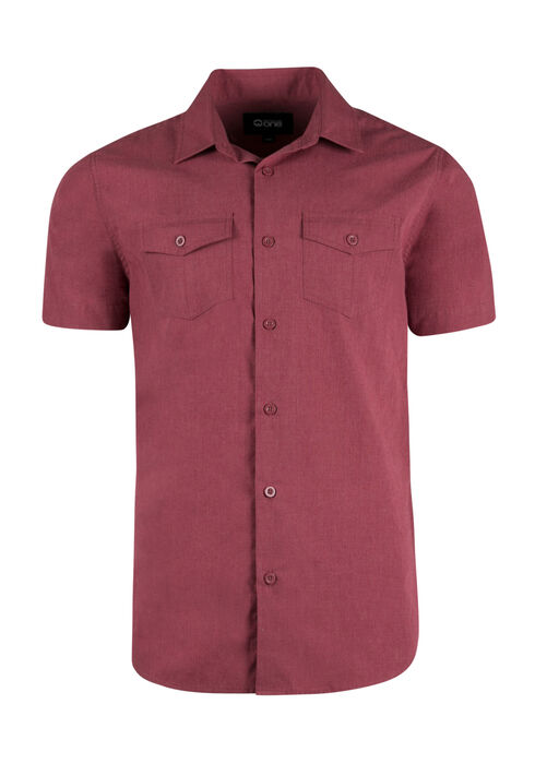 Men's Textured Shirt, CHILI, hi-res
