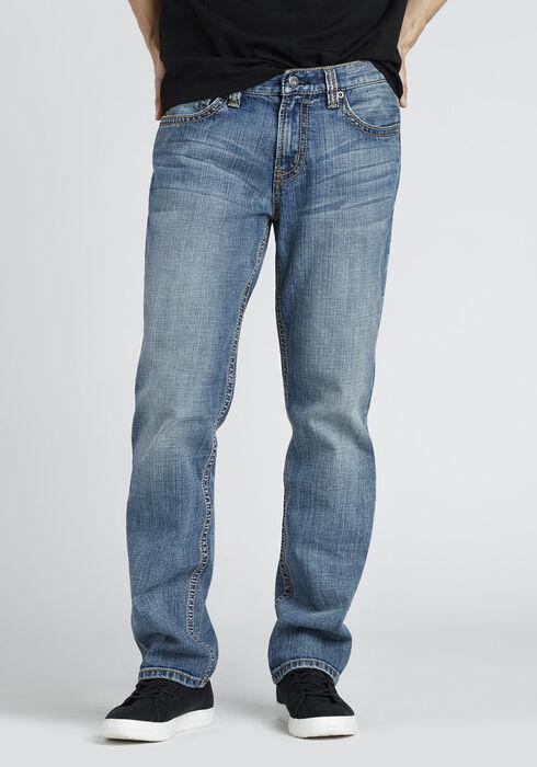 Men's Slim Straight Jeans, LIGHT VINTAGE WASH, hi-res