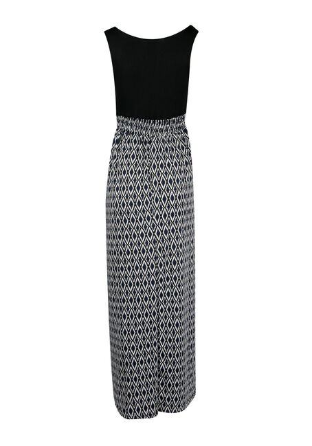 Ladies' Mosaic Maxi Dress, NAVY BLACK, hi-res