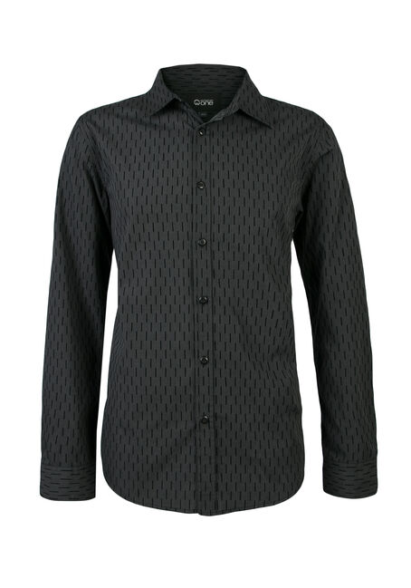 Men's Flocked Shirt, CHARCOAL, hi-res