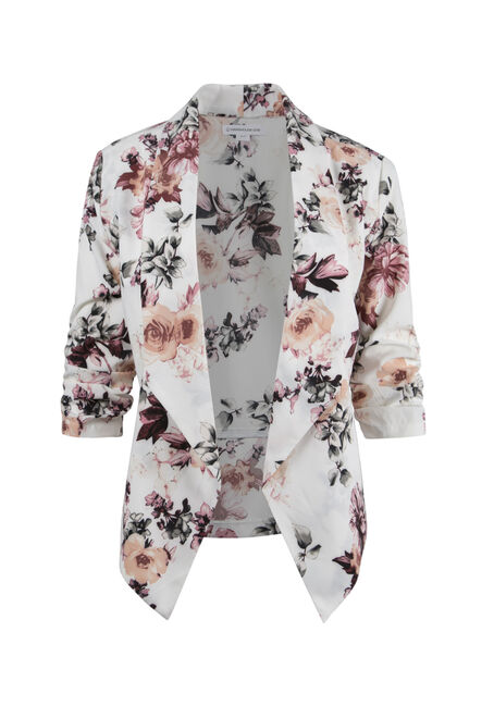 Ladies' Floral Open Blazer