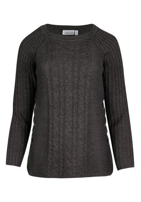 Ladies' Lace Up  Sweater