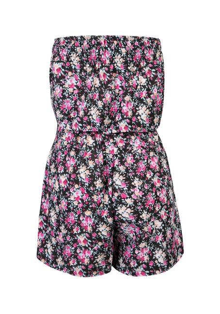 Ladies' Strapless Romper, BLACK, hi-res