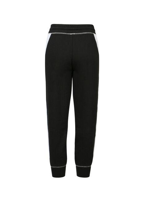 Ladies' Color Block Jogger Capri, BLK/WHT, hi-res