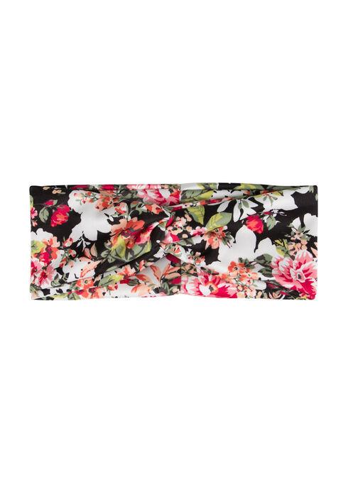 Ladies' Floral Bandana Headband, WINTER WHITE, hi-res