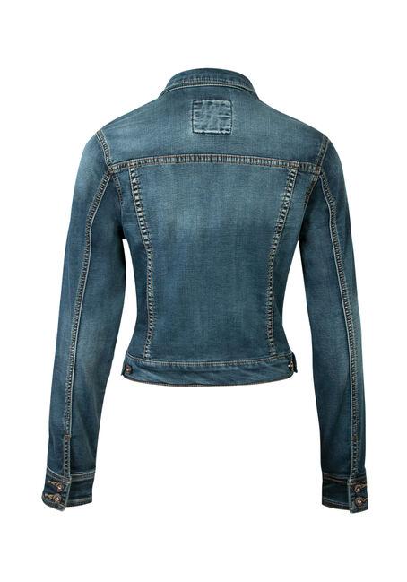 Ladies' Super Soft Jean Jacket, MEDIUM DARK, hi-res