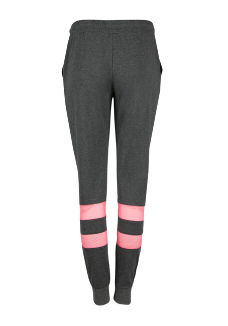 Ladies' Mesh Insert Jogger, CHARCOAL, hi-res