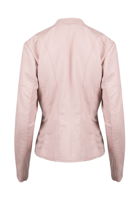 Ladies' Moto Jacket, PINK, hi-res