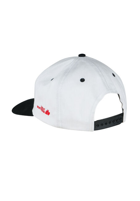 Men's Cannabis Flat Brim Baseball Hat, WHITE, hi-res