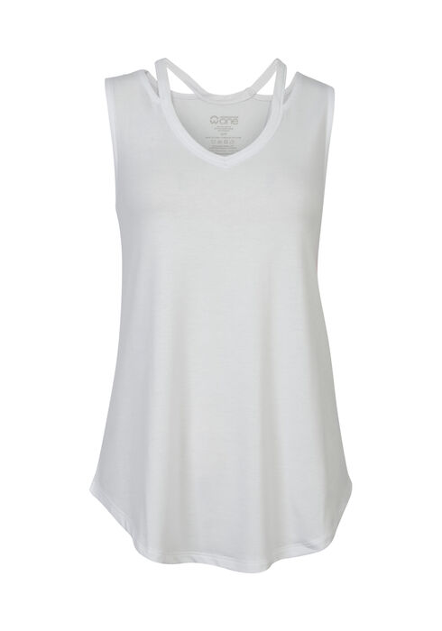 Ladies' Cut Out Tank, WHITE, hi-res