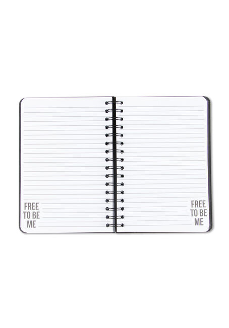 Free To Be Me Notebook, BLACK, hi-res