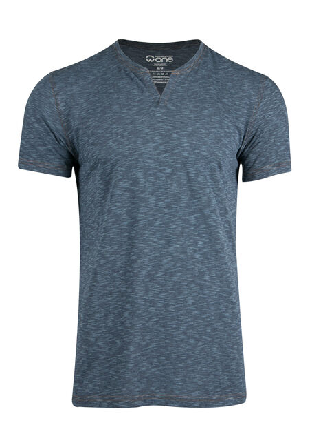 Men's Everyday Split V-neck Tee, BLUE, hi-res