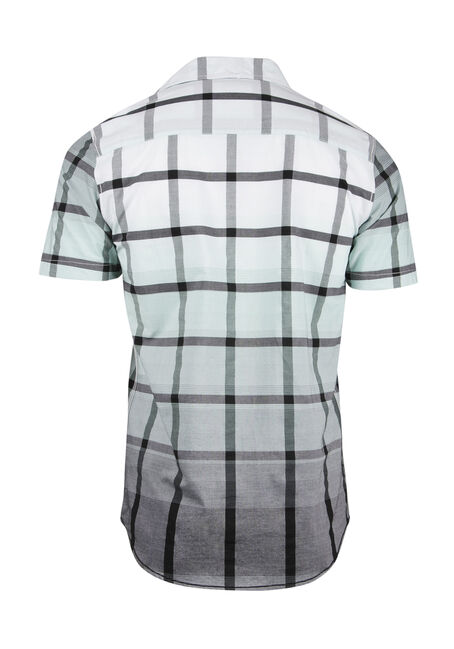Men's Ombre Plaid Shirt, WHITE, hi-res