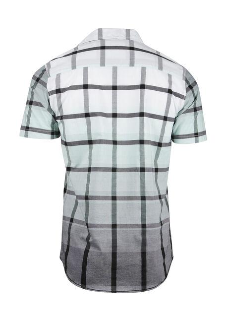 Men's Ombre Plaid Shirt, WHITE, hi-res
