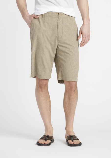 Men's Flat Front Hybrid Short, KHAKI, hi-res