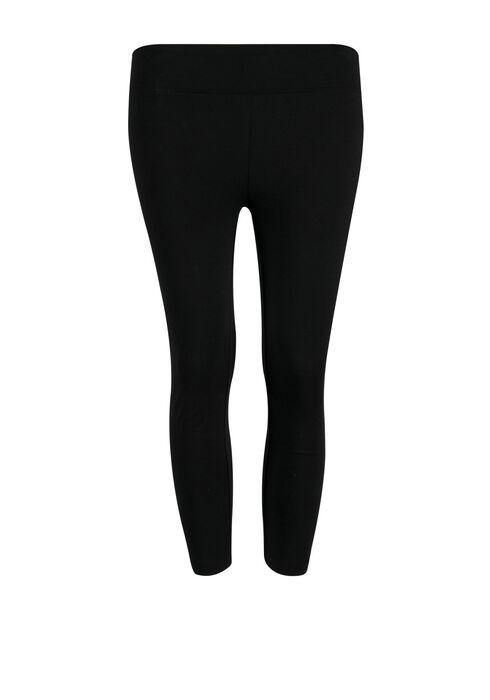 Ladies' Wide Waist Capri Legging, BLACK, hi-res