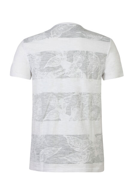 Men's Tropical Print Tee, WHITE, hi-res