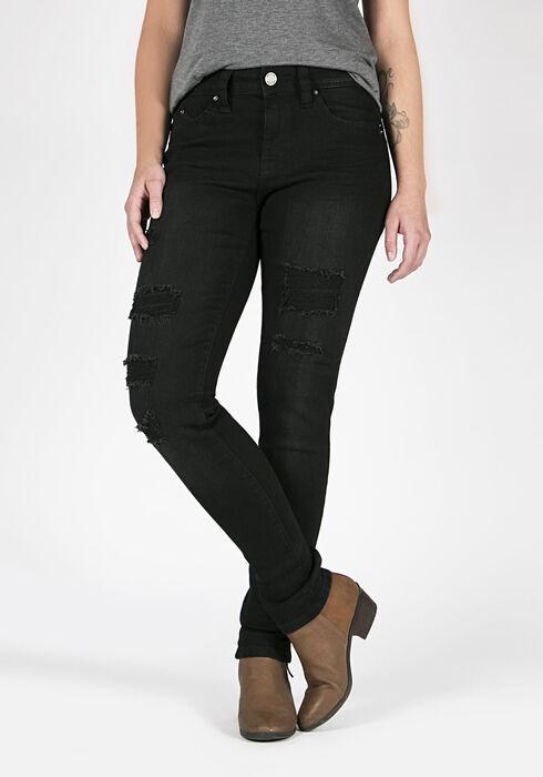 Ladies' Skinny Jeans, BLACK, hi-res
