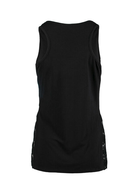 Ladies' Moon Mandala Tank, BLACK, hi-res