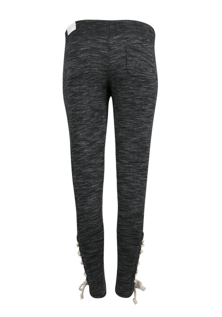 Ladies' Lace Up Jogger, MARLED BLACK, hi-res