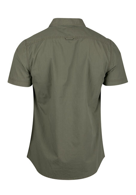 Men's Relaxed Textured Shirt, LIGHT OLIVE, hi-res
