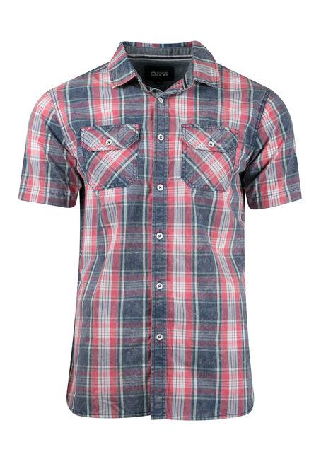 Men's Acid Wash Plaid Shirt