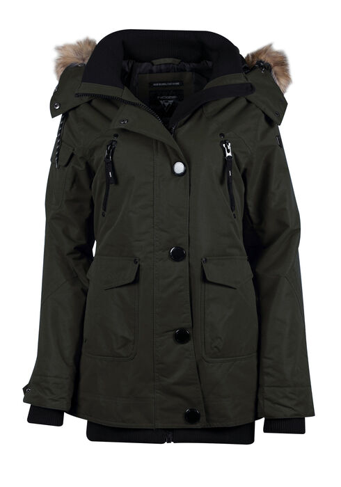 Ladies' Utility Parka, DARK ARMY, hi-res