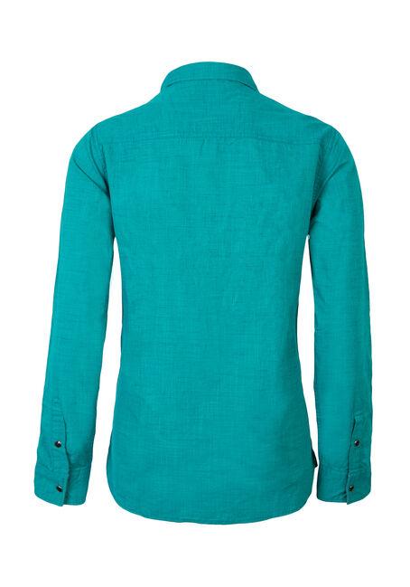 Men's Textured Shirt, AQUA, hi-res