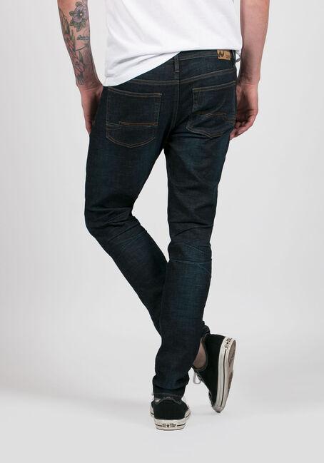 Men's Skinny Taper Jeans, DARK WASH, hi-res
