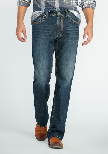 Men's Straight Leg Dark Vintage Jeans
