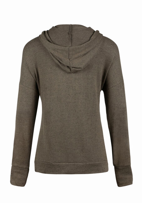 Ladies' Super Soft Popover Hoodie, MILITARY, hi-res
