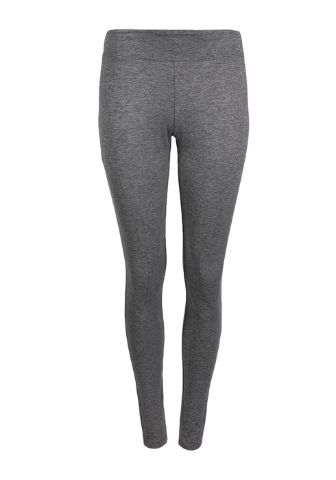 Ladies' Wide Waistband Legging, CHARCOAL, hi-res